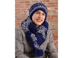 Touchdown Hat and Scarf Set Pattern (Crochet)