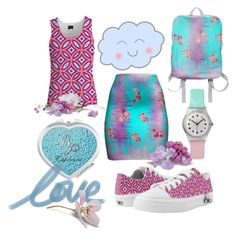 """""""Lovely Lilac & Blue"""" by flisty ❤ liked on Polyvore featuring Retrò, Blue and lilac"""