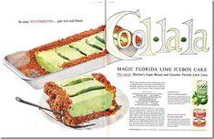 1950s frozen icebox lime pie, vintage recipe