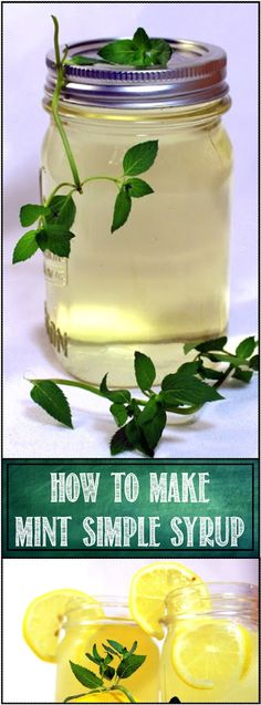Inspired By eRecipeCards: How to Make MINT SIMPLE SYRUP