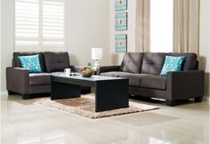 Dante Fabric Sofa Pair | Super A-Mart $900 for the pair