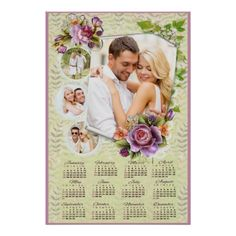 2015 Photo Multi Photo Floral Calendar Poster