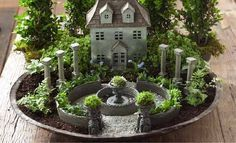 Make your choice! The top 100 miniature fairy garden design ideas - gardening 2019 - Make your choice! The top 100 miniature fairy garden design ideas, - Mini Fairy Garden, Fairy Garden Houses, Gnome Garden, Fairy Gardening, Organic Gardening, Fairy Garden Plants, Fairy Furniture, Furniture Ideas, Dish Garden