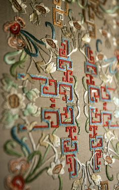 The embroidery decorations after the renovation of the Juanqin Studio, Forbidden…