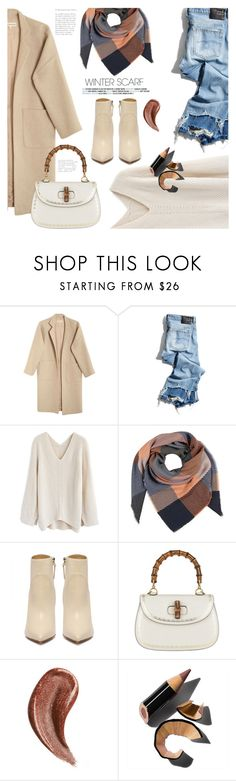 """Winter scarf"" by jan31 ❤ liked on Polyvore featuring Mara Hoffman, R13, Chicwish, Gucci and Bobbi Brown Cosmetics"