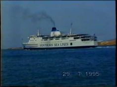Nice memories from old ferries in Greece Apollon Express Golden Vergina & Panagia Tinou 2 at Paros port 1995 Special Thanks to George Halkos, original Filmer Ferry Boat, Paros, Best Memories, Over The Years, Boats, Sea, Film, Youtube, Vintage