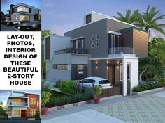 THOUGHTSKOTO Bungalow House Plans, Modern House Plans, Modern House Design, Modern Houses, Two Story House Design, 2 Storey House Design, Double Storey House Plans, Home Designer, Deck
