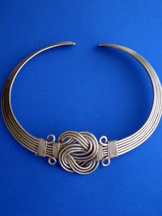 *Knotted Wire Hmong (Miao) Collar Neckring. I have never seen this before, it's beautiful!
