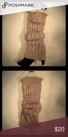 Icon Collection Leg Warmers Beige/Cream Leg Warmers, 100% Acrylic, One Size Fits Most ICON Accessories Hosiery & Socks