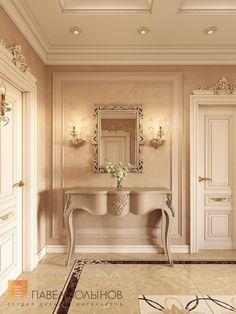 Фото интерьер холла из проекта «Дизайн четырёхкомнатной квартиры 200 кв.м. в классическом стиле, ЖК «Премьер Палас»»