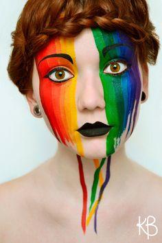 rainbow-face makeup
