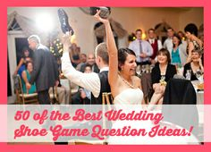 The Shoe Game: fun wedding reception game! I'm not a huge fan of wedding games, but this one is Shoe Game Wedding, Wedding Reception Games, Reception Ideas, Wedding Bells, Our Wedding, Dream Wedding, Bridesmaids And Groomsmen, Here Comes The Bride, Getting Married