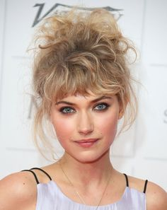 Imogen Poots showing that it's possible to pull off this hair if you look as good as she does. Very #80s
