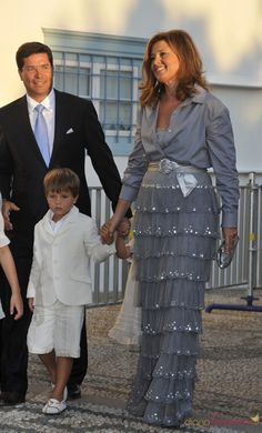 Princess Alexia of Greece and Denmark, with husband Carlos and their son Carlos