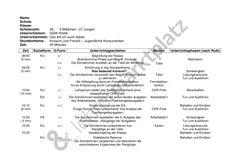 Verlaufsplan: Unterrichtseinheit und Arbeitsblatt zum Thema Konsum