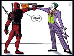 Deadpool Meets the Joker by Theamat.deviantart.com on @DeviantArt