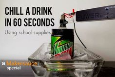 Find out the best way to chill a drink in 60 seconds!