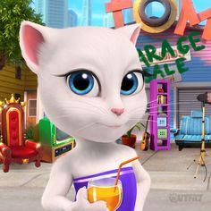 Disney Art Style, My Talking Tom, My Tom, Kids Corner, Cat Drawing, Shopkins, Big Star, Game Character, Diy And Crafts