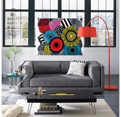 Ambiance colorée dans le salon / Colorful atmosphere in the living