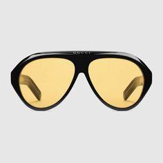 7a6359e7b0f5 Navigator sunglasses with Double G - Gucci Men s Aviator 558388J07401173