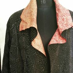 Squares jacket. Hand stitched. www.the-stitching-project.com