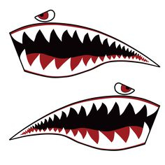 Warhawk Sticker Decal Vinyl Flying Tiger Shark Teeth Fighter Jet Bite War Hawk | eBay