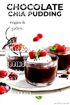 #bakingbaking #chocolate #texanerin #pudding #paleo #vegan #chiaChocolate Chia Pudding (paleo, vegan) - Texanerin Baking#bakingChocolate Chia Pudding (paleo, vegan) - Texanerin Baking#baking  Irish Chocolate Pots de Creme - The most decadent, silky smooth, to-die-for dessert that only takes 5 minutes to throw together. My husband thinks it's the best chocolate dessert I've ever made!  Healthy Chocolate Chia Pudding - Vegan and Gluten Free - A healthy breakfast. Leave the chia seeds whole ... Irish Chocolate, Best Chocolate Desserts, Chocolate Chia Pudding, Healthy Chocolate, Chocolate Pots, Paleo Vegan, Chia Seeds, Panna Cotta, Smooth