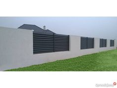 Nowoczesne ogrodzenia metalowe Tarczyńscy Golina sprzedam House Fence Design, Modern Fence Design, Gate Design, Small House Design, Compound Wall, Building A Container Home, Backyard Fences, Fence Gate, Pool Houses