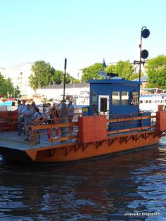 Föri is a free boat over the river in Turku,Finland Cities In Finland, Finland Travel, Malta, Finland Destinations, Turku Finland, Scandinavian Countries, Over The River, My Land, Europe