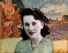 A weekend in Rio vintage woman original mixed media art by MaudstarrArt aka Canadian artist heather Murray
