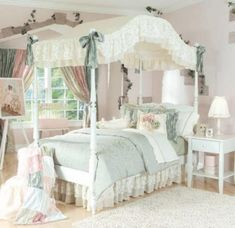 10 luxurious teen girl bedroom designs 3 Like the style not the color Dream Bedroom, Home Bedroom, Bedroom Decor, Bedroom Ideas, Pretty Bedroom, Teenage Girl Bedrooms, Girls Bedroom, Princess Bedrooms, Childrens Beds