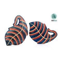 Name : Blue Leaf Shaped Coasters (Set of 2) Price : Rs 399 Buy Now at : http://www.indikala.com/lamps-coasters/blue-leaf-shaped-coasters-set-2-of.html #Ethnic #Luxury #BuyOnline #India