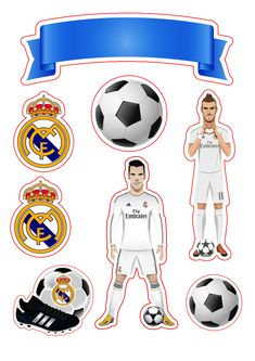 Topo de bolo Real Madrid Bolo Real Madrid, Festa Do Real Madrid, Soccer Birthday, Birthday Party Themes, Imprimibles Real Madrid, Barcelona Cake, Cristino Ronaldo, Diy Gifts For Him, Fathers Day Crafts