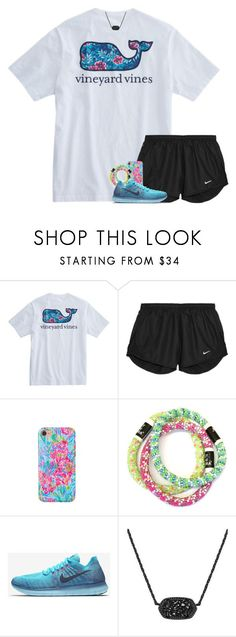 """""""Shoutout!! Read D!"""" by your-daily-prep ❤ liked on Polyvore featuring NIKE, Lilly Pulitzer and Kendra Scott"""