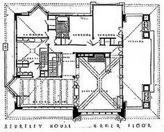Original Floor Plans of Arthur B. Heurtley House (1902)