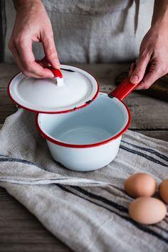Enamelware Pot w/ Lid