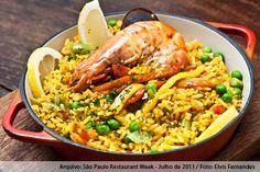 Torero Valese (jantar)    Paella à La marinera (camarão, lula, mexilhões e posta de robalo)