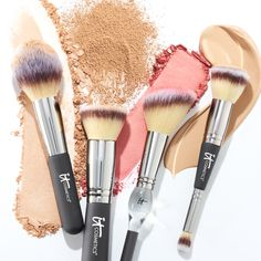 Powders, liquids, crème formulas: You name IT, and there's a Heavenly Luxe Brush to match! | Makeup Brushes | Skincare Infused