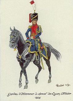 FRANCE - Officier de la Garde d'Honneur a cheval de Lyon 1805