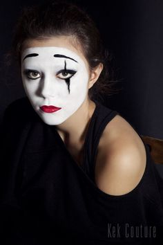Mime Makeup, Halloween Face Makeup, Female Clown, Clowns, Enemies, Costume Ideas, Costumes, Makeup, Imperial Crown