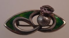 Art Nouveau Sterling Silver & Enamel Brooch - Charles Horner Chester 1905 (T77)