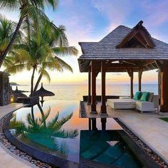 Selection of the best hotels with cheap rates in Mauritius to book on Hotellook. Vacation Places, Vacation Destinations, Dream Vacations, Vacation Spots, Places To Travel, The Places Youll Go, Places To Go, Hotel Swimming Pool, Amazing Destinations