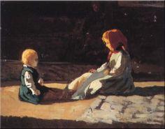 Banti, Cristiano, (1824-1904), Children in the Sun