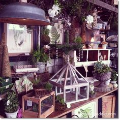 gardening decor  @countryliving  Fair in Rhinebeck #CLfair #vintage #crafts #antiques #thrifting #countryliving #gardening