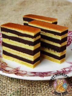 Kek Lapis Keju Coklat