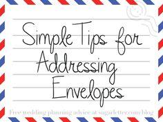 Envelope Addressing Advice | sugarletter