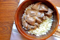 Slow Cooker Beef Stroganoff (Paleo, Dairy-Free, Whole 30)