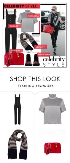 """Celebrity style and PaoloShoes"" by spenderellastyle ❤ liked on Polyvore featuring MiH Jeans and Tory Burch"