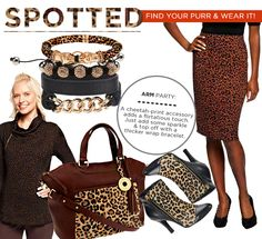 Take a walk on the wild side this fall in animal print! #QIn magazine