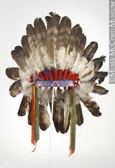 Iroquois-Mohawk war bonnet via The McCord Museum